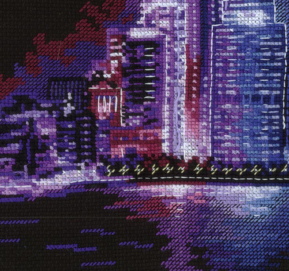 Вышивка крестом ночной город схема фото 760