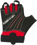 Перчатки для фитнеса SU-119 (XL; чёрные/красные) — фото, картинка — 2