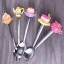 Ложка десертная металлическая — фото, картинка — 2