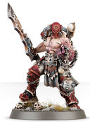 Warhammer Age of Sigmar. Khorne Bloodbound. Slaughterpriest with Hackblade and Wrath-hammer (83-37) — фото, картинка — 1