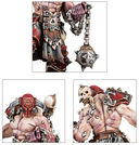 Warhammer Age of Sigmar. Khorne Bloodbound. Slaughterpriest with Hackblade and Wrath-hammer (83-37) — фото, картинка — 2